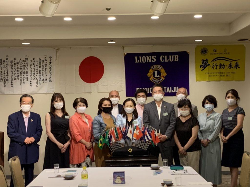 2020年8月12日第333回例会-福岡大樹ライオンズクラブ